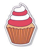 Patriotisk muffin isolerad symbolsdesign Arkivfoton