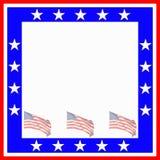 patriotisk ram Arkivbild