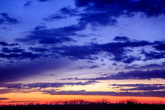Patriotisk solnedgång Arkivfoto
