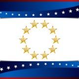 Patriotisk stjärnabakgrundssymbol Royaltyfria Bilder