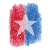 Patriotisk stjärnavattenfärg Fotografering för Bildbyråer