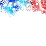 Patriotisk titelraddesign för Förenta staterna Arkivfoton