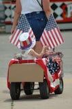 patriotisk vagn Arkivfoto