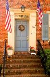 patriotisk vertical för dörröppning Arkivbilder