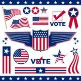patriotiska amerikanska element Arkivfoto