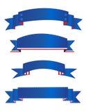 patriotiska banerbaner stock illustrationer