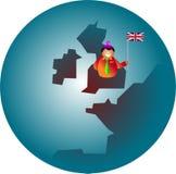 patriotiska britain Arkivbild