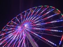 Patriotiska Ferris Wheel Royaltyfri Fotografi