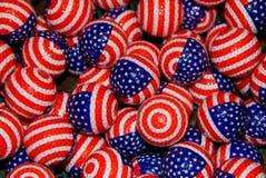 patriotiska golfballs Arkivfoton