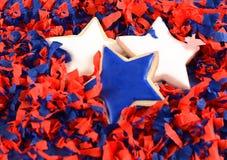 Patriotiska kakor för 4th Juli Royaltyfri Bild