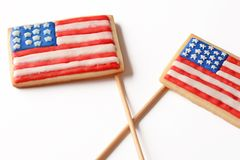 Patriotiska kakor för 4th Juli Arkivfoton