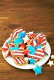 Patriotiska kakor för 4th Juli Royaltyfria Foton