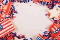 Patriotiska konfettier av 4th Juli Fotografering för Bildbyråer