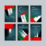 Patriotiska kort för UAE för nationell dag Fotografering för Bildbyråer