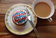 Patriotiska muffin för Juli 4th beröm Arkivfoton