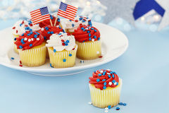 Patriotiska muffiner Arkivbilder