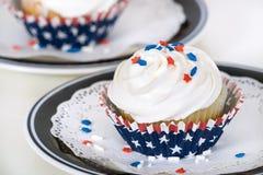 patriotiska muffiner Arkivbild