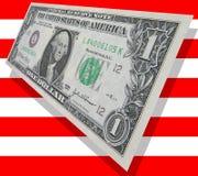 patriotiska pengar Royaltyfria Bilder