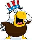 Patriotiska skalliga Eagle Fotografering för Bildbyråer