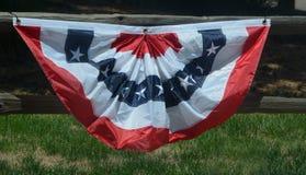 Patriotiskt amerikanskt Buntingbaner Arkivfoton