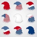Patriotiskt amerikanskt symbol för ferie örn vektor illustrationer
