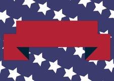 Patriotiskt baner royaltyfri illustrationer