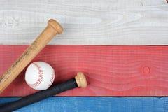 Patriotiskt baseballtema Arkivfoto