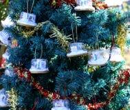 Patriotiskt julträd i Fort Myers, Florida, USA Arkivbilder