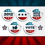 patriotiskt rösta för etiketter vektor illustrationer