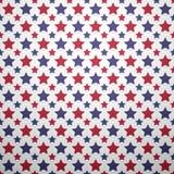 Patriotiskt rött, vit och blått geometriskt sömlöst vektor illustrationer