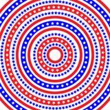 Patriotiskt ringa mönstrar royaltyfri illustrationer