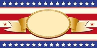 patriotiskt tecken royaltyfri illustrationer