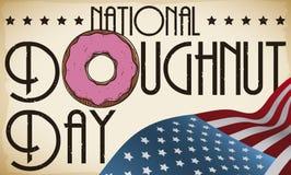 Patriotiskt tecken och flagga att fira den amerikanska munkdagen, vektorillustration vektor illustrationer