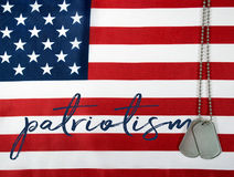 Patriotism and dog tags Stock Photography