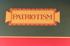 Patriotism writing inside Washington National Library of Congress Stock Photo
