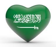 Patriotismo de Arábia Saudita Imagem de Stock