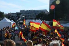 Patriotismo espanhol no Madri, Espanha imagem de stock