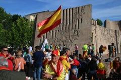 Patriotismo espanhol no Madri, Espanha fotos de stock royalty free