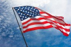 Patriotismo los E.E.U.U. americanos del cielo de la bandera, nacional imágenes de archivo libres de regalías