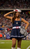 Patriots cheerleader Halloween Royalty Free Stock Image