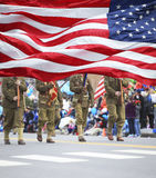 Patriots Day Parade Stock Image