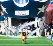 Patriots enter Gillette Stadium Stock Images