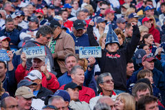 Patriots fans Royalty Free Stock Photo