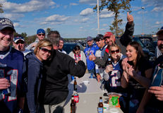 Patriots game tailgate party Stock Images