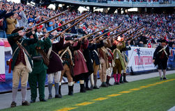 Patriots gun salute Royalty Free Stock Photo