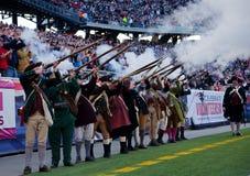 Patriots gun salute Royalty Free Stock Image