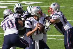 Patriots Pass Play Stock Photo