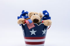 Patriottisch draag in emmer Stock Fotografie