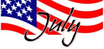 Patriottisch juli royalty-vrije illustratie