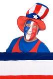 Patriottisch vierde van de mens van Juli Stock Foto's